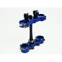 YZ250F YZ450F 2010 TO 2018 TRIPLE CLAMP SET-BLUE- SCAR RACING S1424