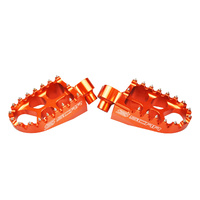 KTM 50/65/125/250/200/300/350/450/500/525/530,HUSABERG,SHERCO,BETA-SCAR BILLET ORANGE FOOT PEGS
