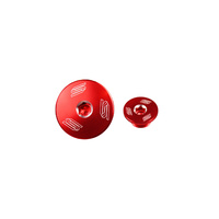 CRF150R CRF250R CRF450R CRF250X CRF450X  ALLOY ENGINE PLUG KIT- RED- SCAR RACING