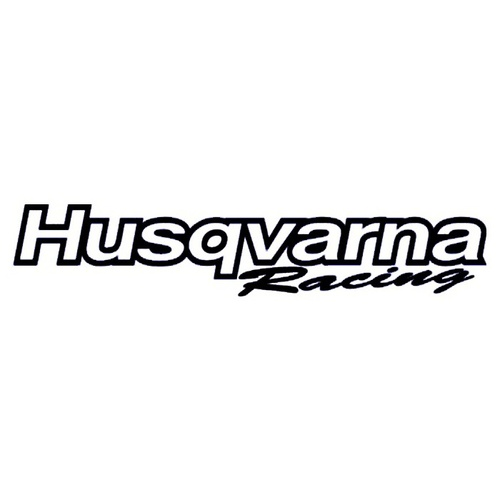 HUSQVARNA STICKER SMALL - FACTORY RACING - MADE IN AUSTRALIA