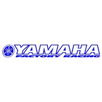 YAMAHA WINDSCREEN STICKER - FACTORY RACING - MADE IN AUSTRALIA