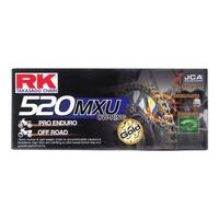 "RK 520 120 LINK DIRT BIKE CHAIN- ULTRA ""UW"" RING GOLD RACING CHAIN- GB520MXU"