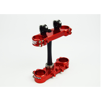 CR125 CR250 CRF250R CRF450R 1997 TO 2007 TRIPLE CLAMP SET- RED- SCAR RACING